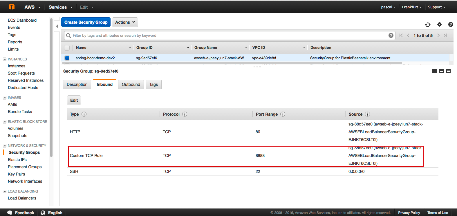 Configuring the Elastic Load Balancer of your Elastic