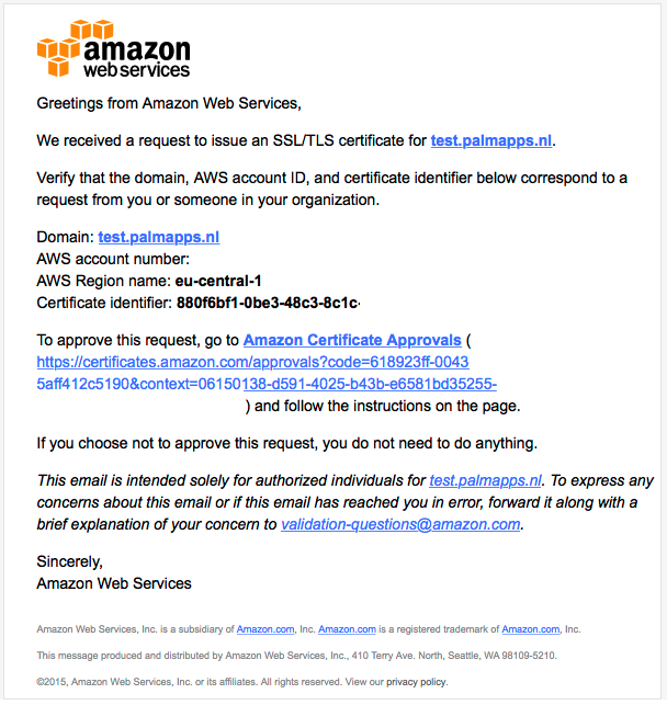 Get A Certificate From AWS Certificate Manager